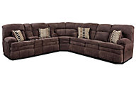 Homestretch Reagan 3-Piece Reclining Sectional