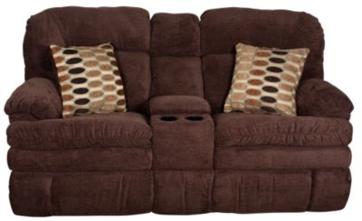 Homestretch Reagan Reclining Loveseat with Console