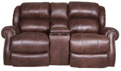 Homestretch Wyoming Rocking Reclining Loveseat with Console