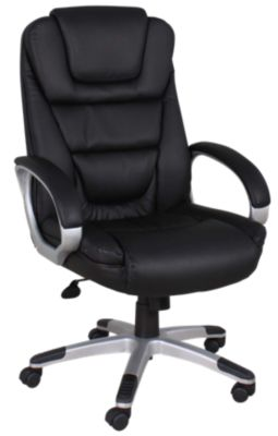 Presidential Seating Executive LeatherPlus Black and Chrome Desk Chair