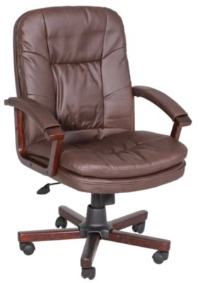Presidential Seating Bomber Brown LeatherPlus Desk Chair