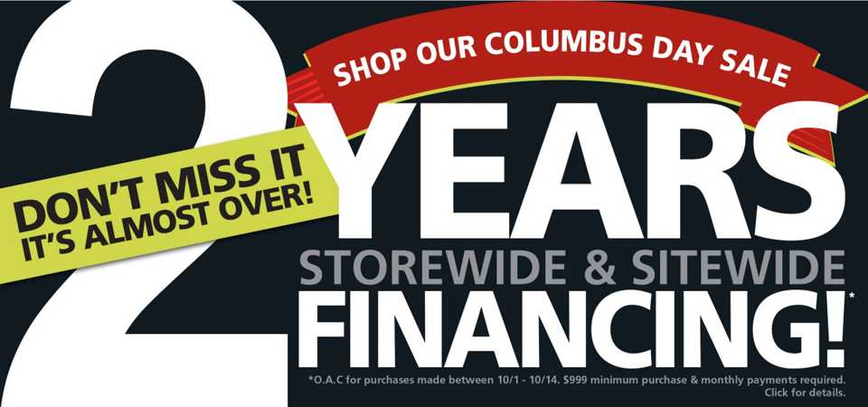 Columbus Day Sale Final Days Ad