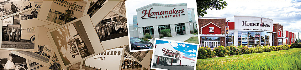 Homemakers Furniture has grown from humble beginnings to become one of the largest furniture stores in the country.