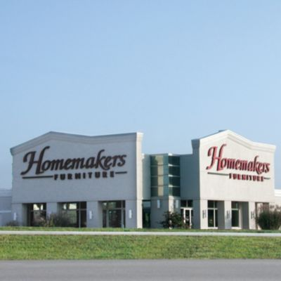 Image shows the new Homemakers Furniture façade.