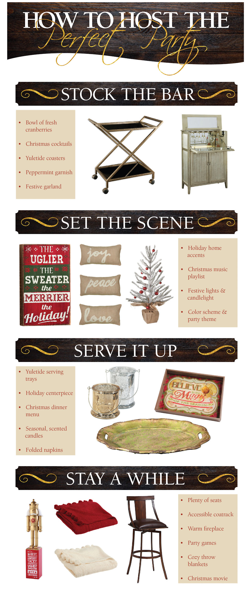 Host the perfect Christmas party with these furniture and décor essentials!