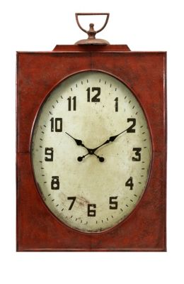 Imax Carnen Oversized Red Wall Clock