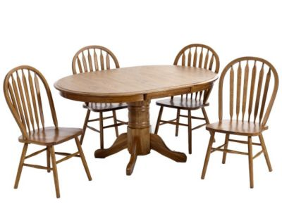 Intercon Classic Oak Table & 4 Chairs