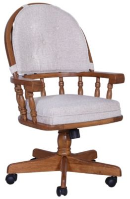 Intercon Classic Oak Swivel Tilt Caster Chair