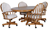 Intercon Classic Oak Laminate Table & 4 Caster Chairs