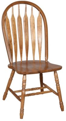 Intercon Classic Oak Detailed Arrow Back Side Chair