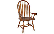 Intercon Classic Oak Detailed Arrow Back Arm Chair