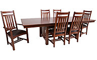 Intercon Oak Park Trestle Table, 4 Side & 2 Arm Chairs