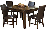 Intercon Kona Table & 4 Parsons Chairs