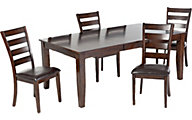 Intercon Kona Table & 4 Ladder-Back Chairs