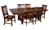 Intercon Mission Leopold Table & 6 Chairs