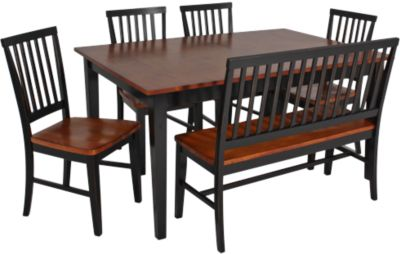 Intercon Arlington 6 Piece Two-Tone Dining Set