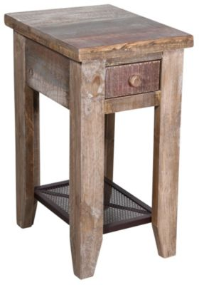 Int'l Furniture Vintage Solid Wood Chairside Table