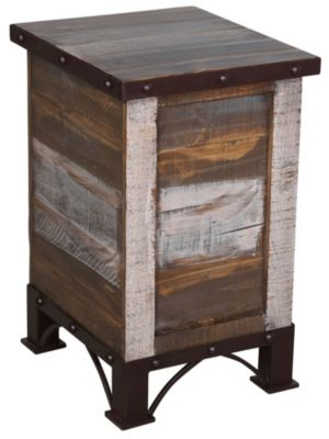 Int'l Furniture Antique Storage Chairside Table