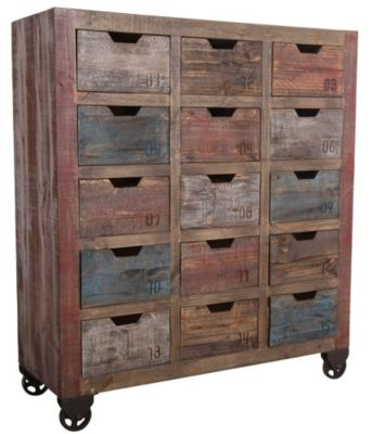 Int'l Furniture Antique Collection 15-Drawer Console