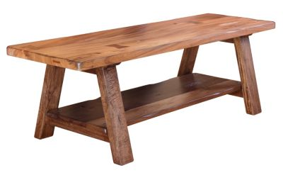 Int'l Furniture Parota Bench with Shelf