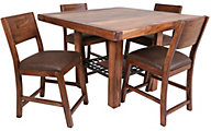 Int'l Furniture Parota Counter Table & 4 Stools