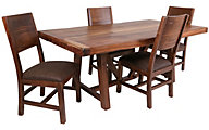 Int'l Furniture Parrota Table & 4 Side Chairs