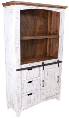 Int 39 L Furniture Pueblo Bookcase With Doors Homemakers Furniture