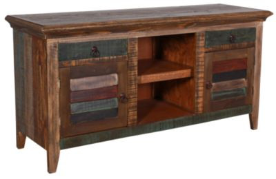 Int'l Furniture Antique Multi-Color Console With 2 Doors