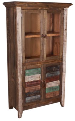 Int'l Furniture Antiqued Bookcase