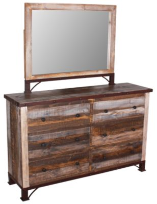 Int'l Furniture Antique Collection Dresser with Mirror