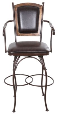 Int'l Furniture Antique Swivel Bar Stool