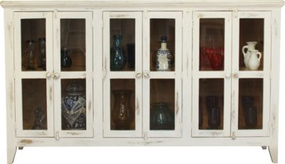 Int'l Furniture Antique White 6-Door Console