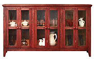 Int'l Furniture Antique Red 6-Door Console