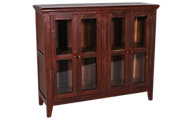 Int'l Furniture Antique Red Console with 4 Doors