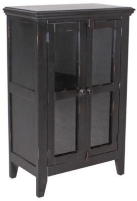 Int'l Furniture Antique Black Console with 2 Doors