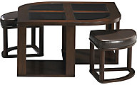 Jackson 891 Collection Coffee Table with Stools