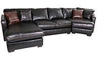 Jackson Tucker Black 3-Piece Sectional