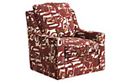Jackson Sutton Scarlet Accent Swivel Chair