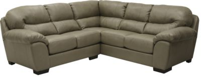 Jackson Lawson Tan 3-Piece Bonded Leather Sectional