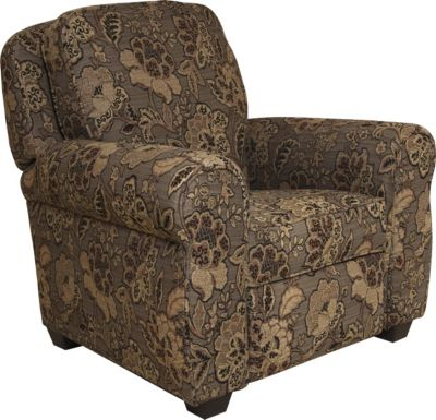 Jackson Downing Floral Press-Back Recliner