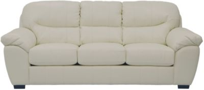 Jackson Grant White Bonded Leather Sofa