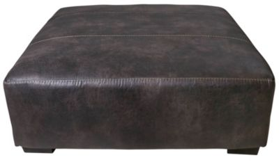 Jackson Grant Steel Bonded Leather Cocktail Ottoman