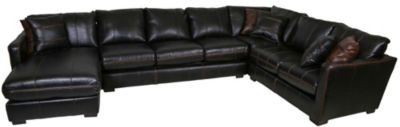 Jackson Tucker Black 4-Piece Sectional