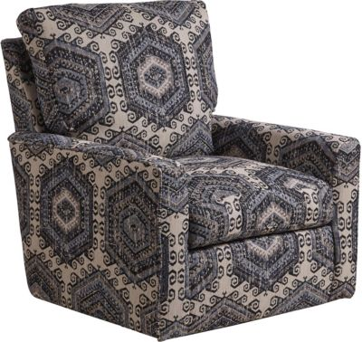 Jackson Westchester Indigo Swivel Chair