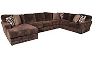 Jackson Everest Chocolate 3-Piece Sectional