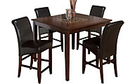 Jofran Baroque Brown Counter Table & 4 Stools