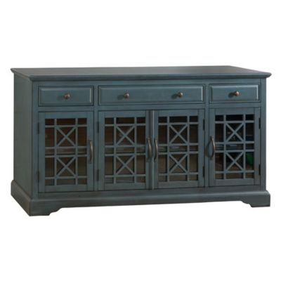 Jofran Craftsman Antique Blue 60-Inch Media Unit