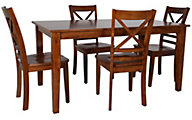 Jofran Simplicity Table & 4 X-Back Chairs