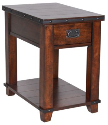 Jofran Cassidy Brown Chairside Table