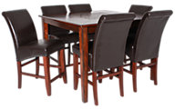 Jofran Baroque Brown Counter Table & 6 Stools